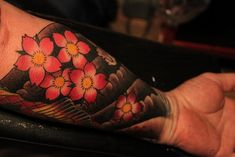 Cherry Blossom Heart Tattoo | Traditional Japanese Tattoos For Women