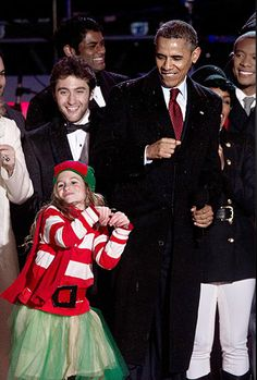 Josh Page with President Barack Obama at The National Tree Lighting 2013