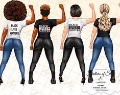 Black Love Art, Black Girl Art, My Black Is Beautiful, Black Girl Magic, Black Girls, Black Women, Clipart Chica, Girl Clipart, Planner Stickers