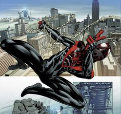 Avengers - Ultimate Spider-Man by Mike Deodato Jr., colours by Frank Martin ultimatespiderman Ultimate Spider Man, Ultimate Marvel, Hq Marvel, Marvel Comics Art, Marvel Heroes, Spiderman Art, Amazing Spiderman, Alex Ross, Batgirl