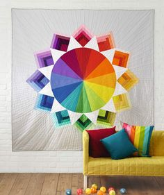 Color Wheel quilt by Holly DeGroot, in Issue 12 of Love Patchwork & Quilting magazine.