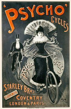 Pubblicità d'altri tempi: 15 poster vintage di biciclette #blog #ciclografica