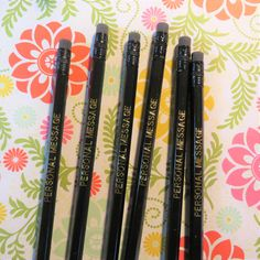 Custom Pencils, Personalized Pencils, Bubble Wrap Envelopes, Birthday For Him, School Events, Family Reunions, Clear Bags, Foil Stamping, Kind Words