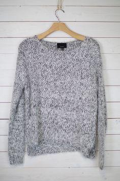Fuzzy Heathered Knit Sweater #shopmaude www.shopmaude.com