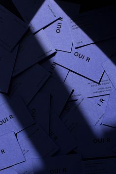 Dennis Adelmann - One more of our business cards for Studio OUI R