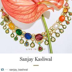 """#Repost @sanjay_kasliwal with @repostapp. ・・・ Check out our trunkshow at @modaoperandi!! #trunkshow #modaoperandi #new #collection #sanjaykasliwal…"" Gems Jewelry, Wedding Jewelry, Jewellery, Photo Colour, Color, Bangles, Bracelets, Indian Jewelry, Blue Sapphire"
