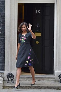 Michelle Obama in a Christopher Kane dress