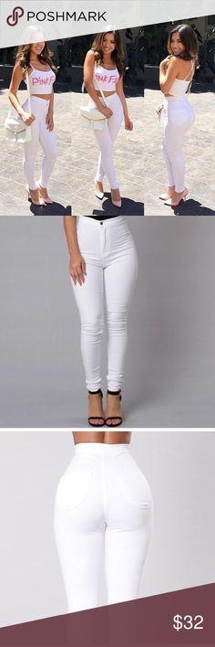 Fashion Nova high waist white skinny jeans 7 Fashion Nova high waist white skinny jeans 7 Fashion Nova Jeans Skinny