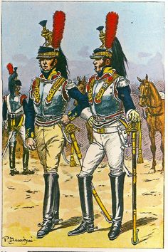 French; 7th or 10th Cuirassier Regts. Officers. Left 1807-09 after Weiland . Right 1809 after Berka
