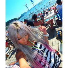 【96yqyo】さんのInstagramをピンしています。 《8/7❤ . 逗子🌴🌺 初めて逗子の海来たー😍 . #逗子#神奈川#beach#海#ギャル#黒肌#日サロ#太陽光#Summer#夏#愛してる》
