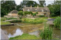 A mile from Lower Slaughter along the same stream, is the village of Upper Slaughter.  The ford here is quite deep and not recommended  for normal cars.  It was raining when I took this shot.  Another couple of shots below.