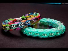 Rainbow Loom or Monster Tail - MINI GLOBAL LINKS Bracelet (ADVANCED). Designed by Suzanne H-B @crazyjustmightwork. Tutorial and looming by Rob at Justin's Toys. Click photo for YouTube tutorial. 10/03/14.