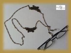 #Brillenkette Schmetterling bronze von bigXel-#Naturschmuck und Wollkunst auf DaWanda.com