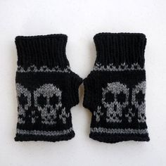 Knitted Wrist warmer Fingerless mittensFingerless by NingNingGong, $40.00