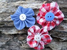 Americana inspired cotton flower 3 pack red by RockabillyBabyPlace, $5.00