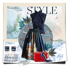 Sin título #351 by norka-gomez on Polyvore featuring polyvore fashion style Chicwish Christian Louboutin Nancy Gonzalez Laura Pierson Asprey BERRICLE Zentique Disney clothing