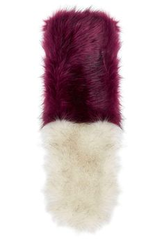 FALL SHOPPING: 12 Faux-Fur Stoles That Look Better Than the Real Thing - Colour-Block Maroon & Cream Faux Fur Stole, $60; at Topshop