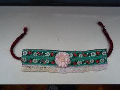 Flower textil barclet Virágos textil karkötő https://www.facebook.com/egyedifantazia/