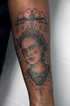 Frida on Alisa, done at la tatuajería, Bcn.