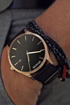 themanliness: The Rose Gold/Brown Leather from MVMT Watches. Check out all the models on their website and join the MVMT!