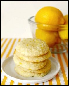 Lemonade Sugar Cookies http://justbakedbyme.wordpress.com/2012/03/26/lemonade-sugar-cookies/
