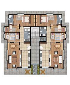 Apartment Plans, Layouts, Floor Plans, Dreams, Park, Architecture, House, House Blueprints, Apartment Plants
