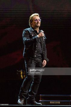 Musician Bono of U2 performs on stage on the final night of U2: The Joshua Tree Tour 2017 at SDCCU Stadium on September 22, 2017 in San Diego, California.