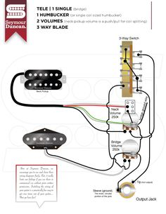 tele wiring diagram 2 tapped pickups 1 push pull telecaster rh pinterest com 4 Wire Humbucker Wiring-Diagram 4 Wire Humbucker Wiring-Diagram