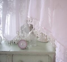 romantic curtains and drapes | Found on summersatthecottage.com
