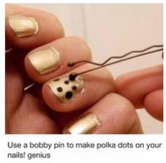 DIY dotting tool!! Brilliant!
