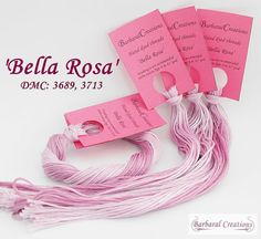 Hand dyed cotton thread  'Bella Rosa' by BarbaralCreations on Etsy, €2.40