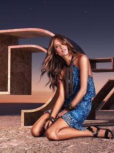 Alessandra Ambrosio is a Bronzed Beauty in Dzarm Summer 2016 Ads