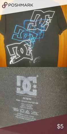 DC tshirt! Black and blue DC t-shirt size medium. Condition is good! DC Tops Tees - Short Sleeve
