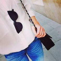 kasia tusk, black, white, bag chanel