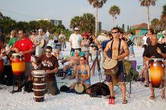 Siesta Key Drum Circle - takes place EVERY Sunday starting about 1 hour before sundown. Siesta Beach.