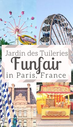 There's a funfair in Jardin des Tuileries: Public Garden near the Louvre holds a fairground annually in the Summer months, Paris, France.