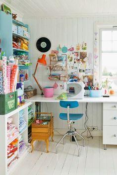 retro craft room