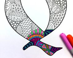 """Letter Q Zentangle - Inspired by the font """"Deutsch Gothic"""""""