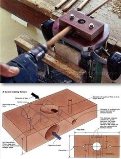 Router Dowel Making Jig - Joinery Tips, Jigs and Techniques | WoodArchivist.com