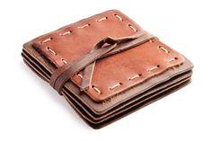 Hand-stitched Leather Coaster Set
