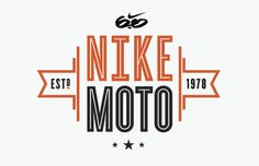 Allan Peters designed this set of logos for Nike 6.0 Motocross. First, it's refreshing to see so many iterations for a single identity—Peters plays off of the Nike swoosh, motorbike wheels and parts, as well as more common racing icons, like black and white checkers, flags, and prize ribbons.