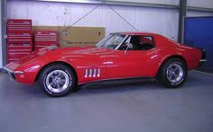Red 1969 Corvette Coupe Baldwin Motion Re-Creation