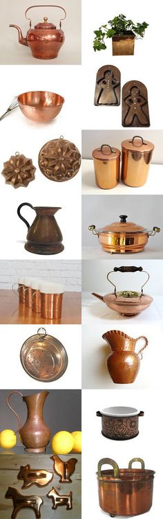 Copper is Classic in Your Kitchen  by Vogueteam by Robert Clough on Etsy--Pinned+with+TreasuryPin.com