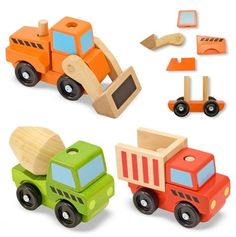 Stacking Construction Vehicles - Melissa & Doug Classic Toys - Events