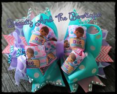 Doc McStuffins Hair Bow by BeautyBowtique14 on Etsy, $8.25