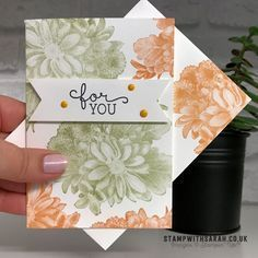 Quick and simple card using Heartfelt Blooms stamp set from Stampin' Up!