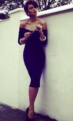 8c31e55e926 Venus black bodycon dress