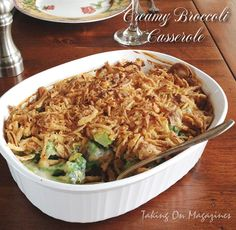 [American] Creamy Broccoli Casserole | Taking On Magazines | www.takingonmagazines.com | Better than the standard green bean casserole, this one features broccoli in a creamy, cheesy sauce.