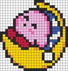 Sleepy Kirby Perler Bead Pattern / Bead Sprite