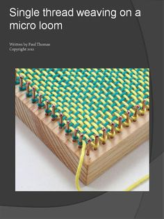 Micro+loom++Single+thread+weaving+guide+by+Planengrain+on+Etsy,+$4.00